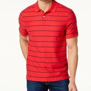 Club Room Men's Red Striped Polo
